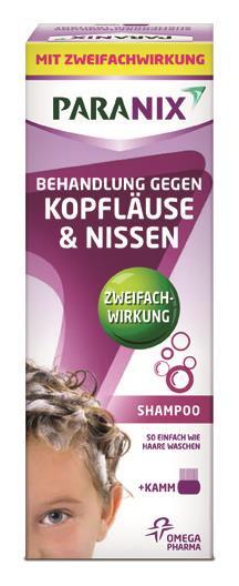 Paranix Shampoo mit Kamm